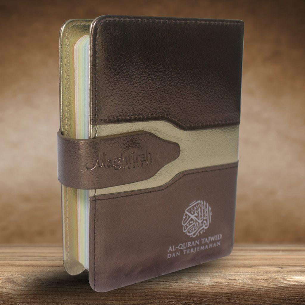 Ar-Razzaaq Qur'an Tajwid Warna & Terjemah (Cokelat)