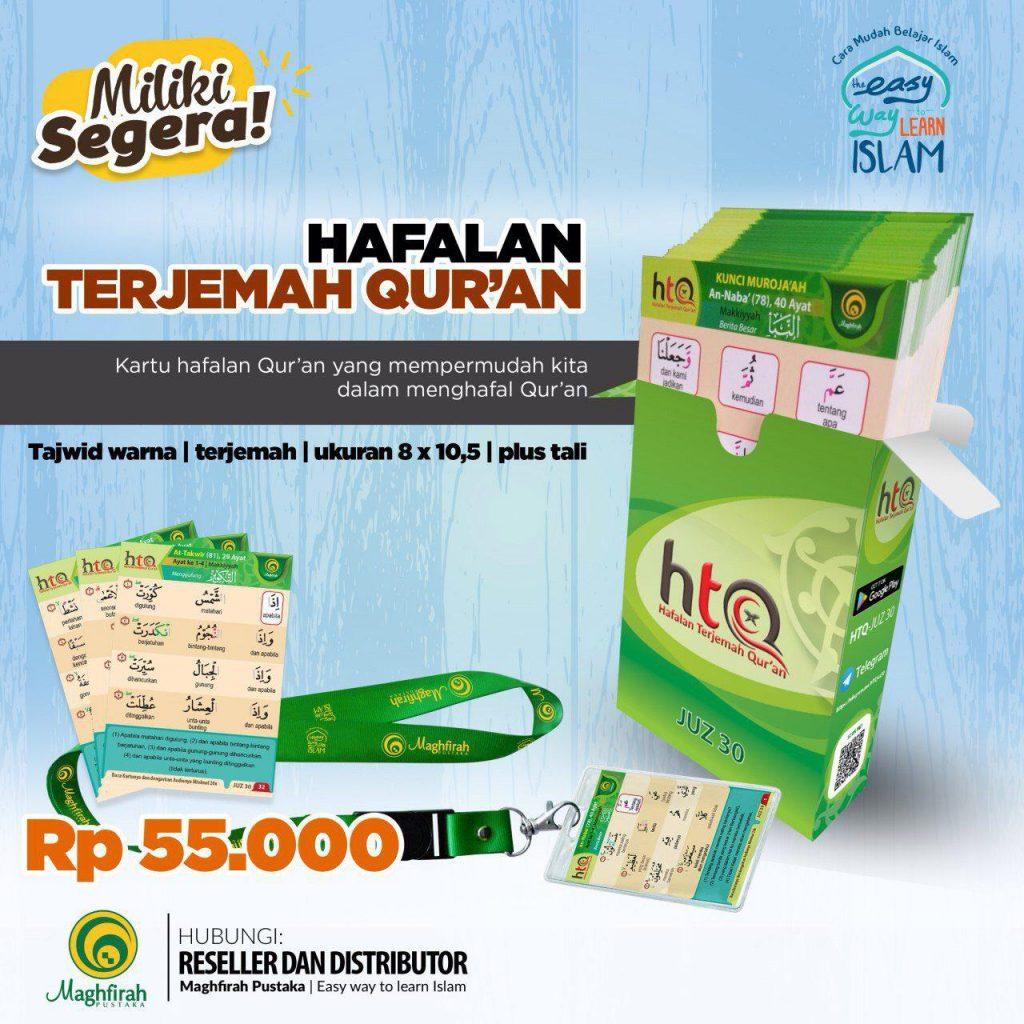 Kartu Hafalan Terjemah Quran (HTQ)