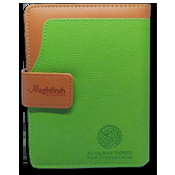 Al-Jamil hijau Quran Tajwid Terjemah Pelangi Dompet Sedang