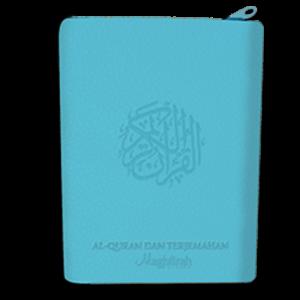 Al-Haliim Quran dan Terjemah Sedang Resleting A5 warna biru langit