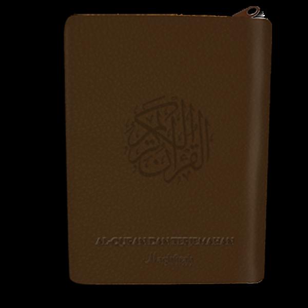 Al-Haliim Quran dan Terjemah Sedang Resleting A5 warna coklat