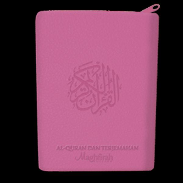 Al-Haliim Quran dan Terjemah Sedang Resleting A5 warna pink